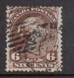 Canada #27b Used Watermarked Showing Complete Letters LS **With Certificate**