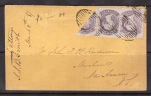 Nova Scotia #9b VF Cover Bisect On Cover From Halifax **With Cert.**