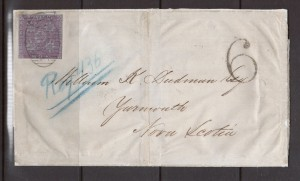 New Brunswick #3 Used On Cover To Yarmouth NS **With Certificate**