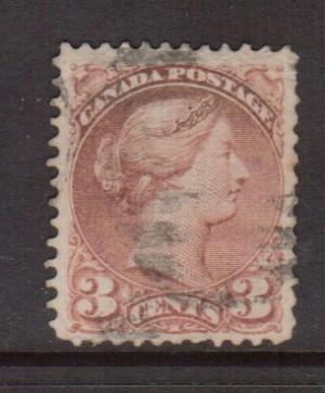Canada #37d VF Used **With Certificate**