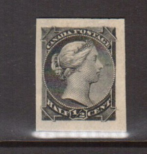 Canada #34P XF Plate Proof India On Card