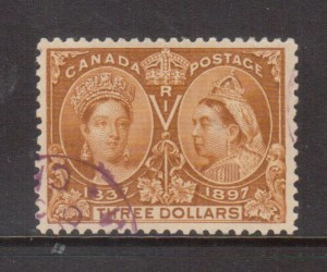 Canada #63 XF Used With Ideal Magenta Corner CDS Cancel **With Cert.**