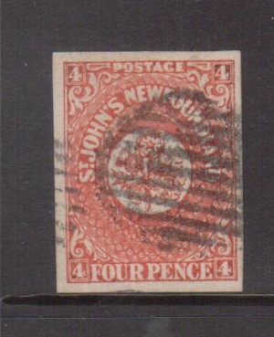 Newfoundland #4 XF Used **With Certificate**