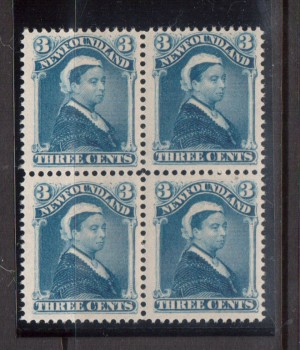 Newfoundland #49 VF/NH Block **With Certificate**