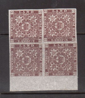 Newfoundland #19b XF/NH Block **With Certificate**