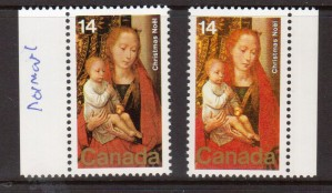 Canada #774a XF/NH Block Color Omitted **With Cert.**