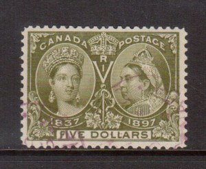 Canada #65 VF Used **With Certificate**