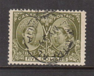 Canada #65 XF Used With Ideal Black Montreal CDS Cancel **With Cert.**