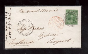 Canada #9a VF Used On Mourning Cover **With Certificate**