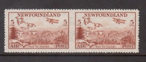Newfoundland #CL13b XF Mint Imperf Pair **With Certificate**
