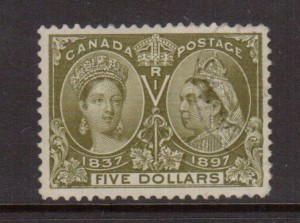 Canada #65 VF Used With Light Town Cancel **With Certificate**