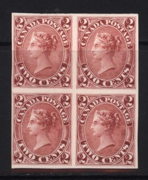 Canada #20TCi XF Mint Proof Block In Claret India Paper