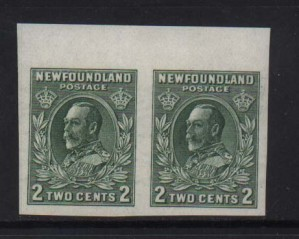 Newfoundland #186iii NH Mint Superb Imperf Pair