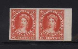 New Brunswick #9Pi XF Mint Imperf Proof Pair