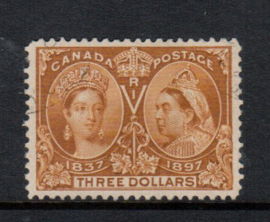 Canada #63 XF Used With Light Corner CDS Cancel **With Certificate**