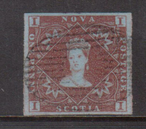 Nova Scotia #1 XF Used Gem **With Certificate**