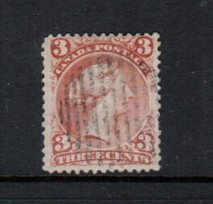 Canada #33 VF Used On Laid Paper With Verge Line **With Certificate**