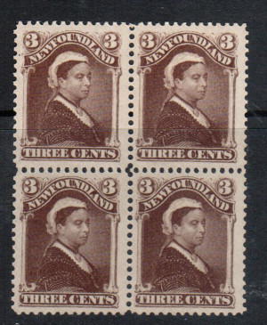 Newfoundland #51a XF/NH Block **With Certificate**