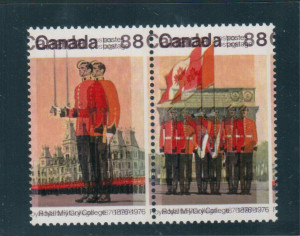Canada #693d XF/NH Double Impression In Setenant Pair **With Certificate**