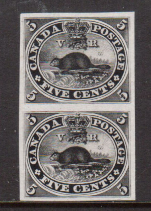 Canada #15TCvii XF Proof Pair In Block On India Paper