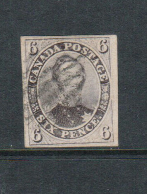Canada #10 XF Used With Light Cancel **With Certificate**