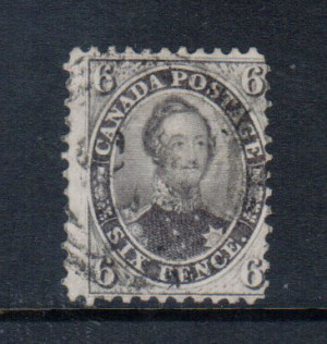 Canada #13 Used Fine With Light Cancel & Ideal Perfs **With Cert.**