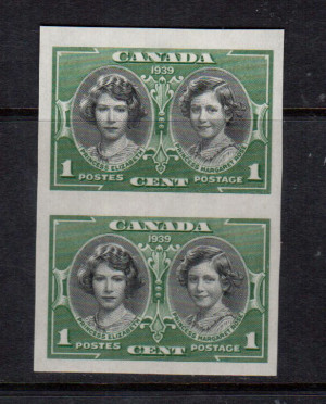 Canada #246a XF/NH Imperf Pair **With Certificate**