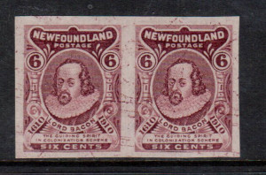 Newfoundland #98a XF Mint Imperf Pair **With Certificate**