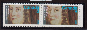 Canada #615a VF/NH Printed On Gum Side Pair **With Certificate**
