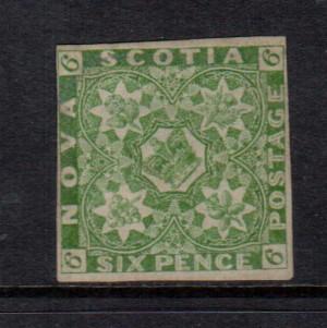 Nova Scotia #4 Mint Fine Unused (No Gum) **With Certificate**