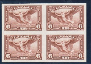 Canada #C5b XF/NH Imperforate Block Of Four