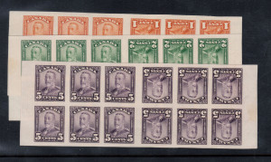 Canada #149c #150c #153c XF/NH Set Of Imperf Tete Beche Booklet Panes