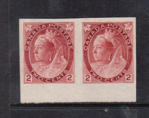 Canada #77iv XF Mint Imperforate Pair **With Certificate**