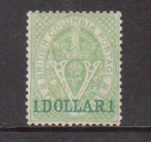 British Columbia #13 XF Mint **With Certificate**