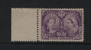 Canada #64 VF/NH Left Margin Example **With Certificate**
