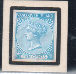 British Columbia #4DP VF Die Proof In Blue **With Certificate**