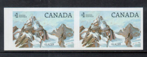 Canada #934b XF/NH Imperforate Pair