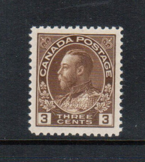 Canada #108c XF/NH Gem **With Certificate**
