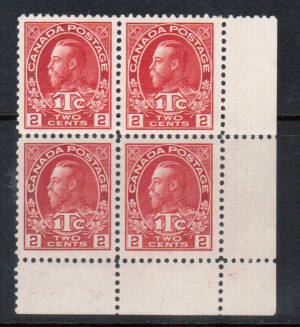 Canada #MR3a XF/NH Block **With Certificate**