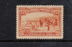 Canada #102 XF/NH Gem **With Certificate**