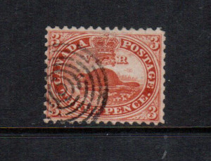 Canada #12 VF Used With Ideal Perforations **With Cert.**