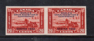 Canada #203a NH Mint Superb Imperf Pair **With Certificate**