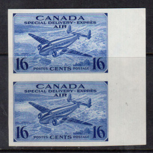 Canada #CE1a XF/NH Imperf Pair **With Certificate**