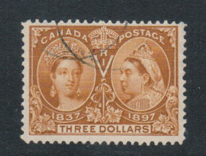 Canada #63 VF Used With Light Cancel **With Certificate**