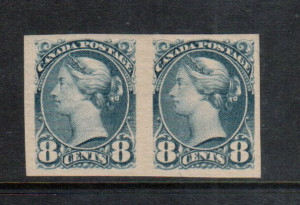 Canada #44d VF Mint Imperf Pair **With Certificate**