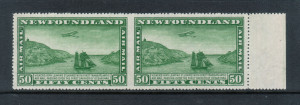 Newfoundland #C10a VF/NH Imperforate Pair **With Cert.**