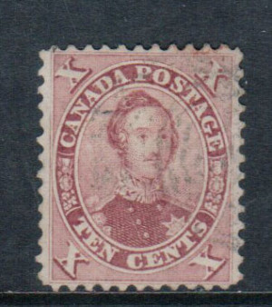 Canada #17 XF Used With Lovely Light Cancel **With Cert.**