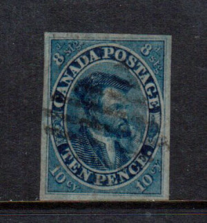Canada #7 XF Used **With Certificate**