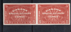 Canada ##5a XF/NH Imperforate Pair **With Certificate**