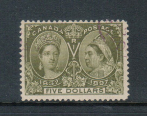 Canada #65 Used With Neat Magenta Cancel **With Certificate**